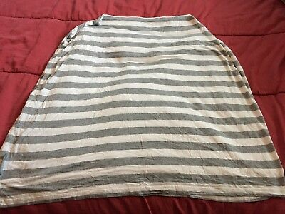 Covered Goods Stretch Nursing Cover Gray and White