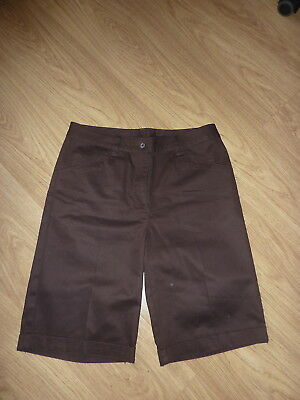 MAINE brown cotton knee short UK 10-small 12