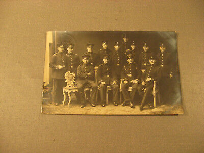 Paradeuniform-Privatpostkarte Soldatengruppe,Uniform um 1915-Antic Soldier 1.WK