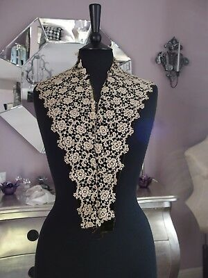 antique lace collar on velvet