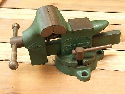 EXCELLENT VINTAGE LITTCO No.112 Swivel Bench Vise w/ Anvil ...