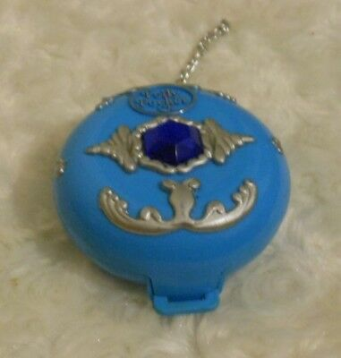 Vintage Pollypocket 1992 Jewelled Sea Blue Compact
