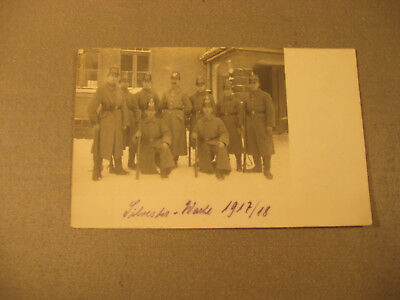 Privatpostkarte Soldatengruppe,Uniform Wache um 1917-Antic Soldier 1.WK