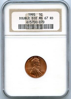 DDO 1995 Lincoln Cent | NGC MS67RD Double Die