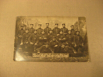 Parole Heimat 1916 Privatpostkarte Soldatengruppe,Uniform -Antic Soldier 1.WK