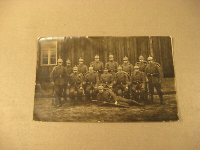 Waffen Zug 1916 Privatpostkarte Soldatengruppe,Uniform -Antic Soldier 1.WK