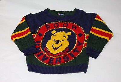 Vintage Winnie The Pooh Sweater Childs Size 2T 3T Long Sleeve