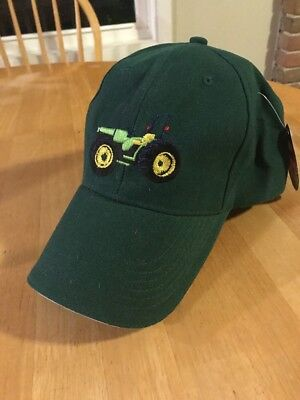 Old-school Vintage tractor hat green fast shipping no reserve .01