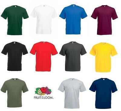 1 3 5 10 Pack Fruit Of The Loom Men Valuewigh 100% Cotton Plain Tee T-Shirt lot