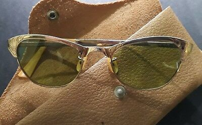 Ray-Ban Usa Vintage - 12K G.f. - In Madrepérola - Leather Case -  Very Rare