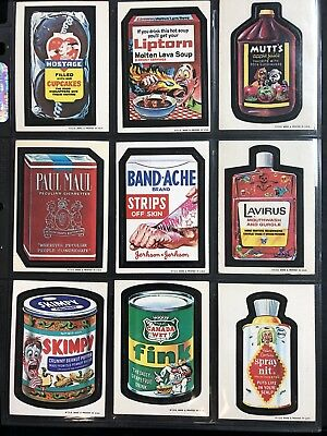 1973 Topps Wacky Packages Original 1st Series Complete Set + Puzzle HIGH GRADE