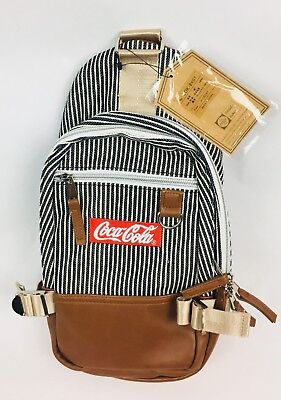 New W/Tags Pinstripe/Hickory Coca-Cola Limited Edition Crossbody Mini Backpack