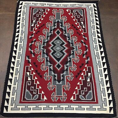 GANADO RED* Large and Unique Native American (Navajo) Textile - Ganado Style