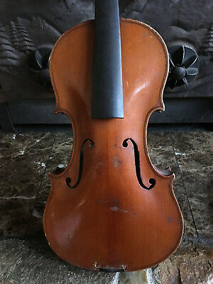 Old Antique Violin for Restoration, Probably French, Full sz