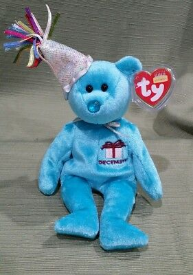 ff2cb3ace22 Ty Beanie Baby December the Birthday December Bear MWMT 2000 Retired
