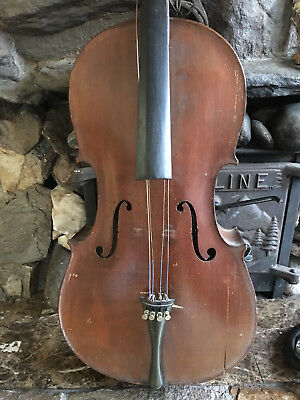 Old Antique Cello For Restoration, Full sz