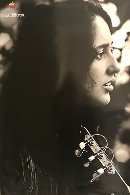 Joan Baez Think Different Poster
