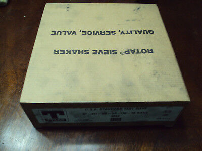 """New old stock in box Tyler test sieve 4862 8"""" 0.787"""" USA"""