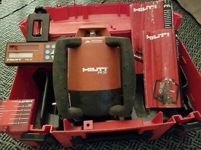 hilti pr 25 rotary - laser - rotating green laser with remote control and...