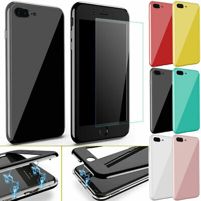 360 Full Body Shockproof Absorption Tempered Glass Case Cover For iPhone 8 /Plus