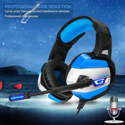 K5 7.1 Surround Gaming Headset Headphone Headband Microphone For PC PS4 XBOX ONE