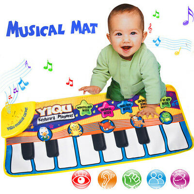 Kids Gift Toy Touch Play Learn Singing Piano Keyboard Music Musical Carpet Mat