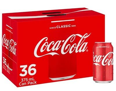 Coca-cola Cans 36x375ml pack FREE POSTAGE
