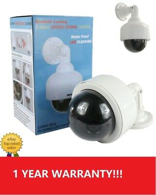 Dummy Fake Dome Security Camera Blinking LEDs Flashing  CCTV Surveillance