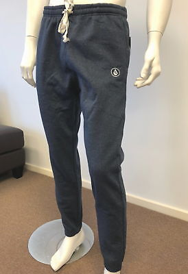 Volcom Mens Fleece Track Pants Trackies Trackpants -Dark Blue - Size M - XL