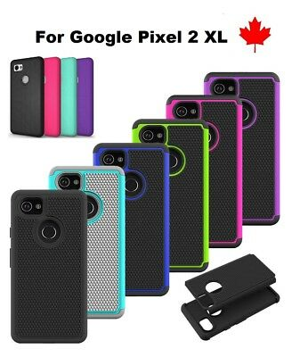 "For Google Pixel 2 XL (6 "") - Shockproof Hybrid Heavy Duty Hard Tough Cover Case"