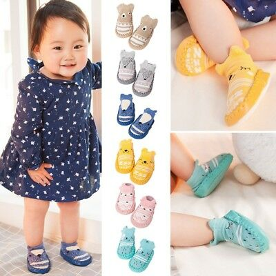 Newborn Baby Boys Girls Soft Sole Crib Shoes Toddler Anti-Slip Soft Socks Boot