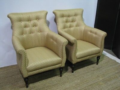 *PAIR* of Mint Sherrill English Regency Style Upholstered Chairs; Perfect