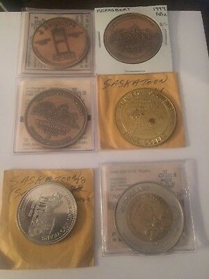 Token Dollars (5 And 10 Included) Lot Of 6 #570