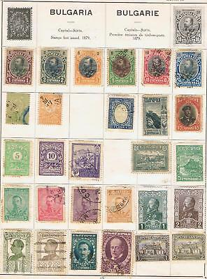 Bulgaria 1901 to 1930 collection on two album pages 30+ stamps Used