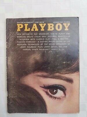 Vintage Clean October 1964 PLAYBOY MAGAZINE Guaranteed Fine! Centerfold intact!