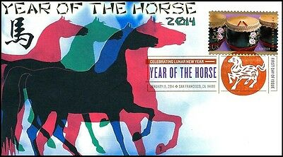 2014 Chinese New Year of the Horse First Day of Issue Cover w/DCP #4846