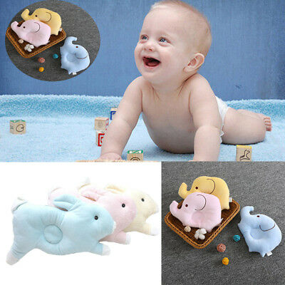 Baby Infant Newborn Memory Cotton Pillow Prevent Flat Head Anti Roll Support