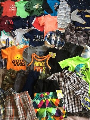 Baby Boy Clothes Lot 37 Pieces 18 Months