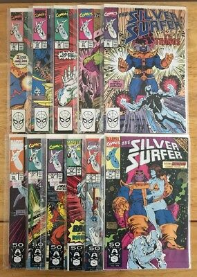 """SILVER SURFER (VOL.3) #34-38, 50-52, 54-56. """"The Infinity Gauntlet"""" Crossovers"""