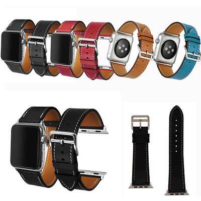 Armband für Apple Watch 38/42mm Leder Leather Strap Band Uhr I Watch Series 321