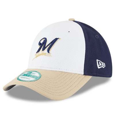 Milwaukee Brewers New Era Perforated Block 9forty Adjustable Cap