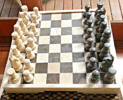 Marble Chess Set and board - handmade