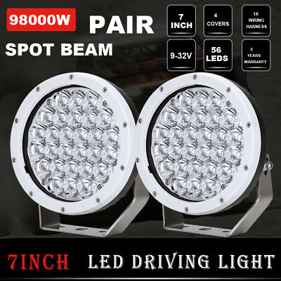 NEW 98000W 7inch Cree LED Driving Light White Round Spotlight Offroad 4x4 Truck
