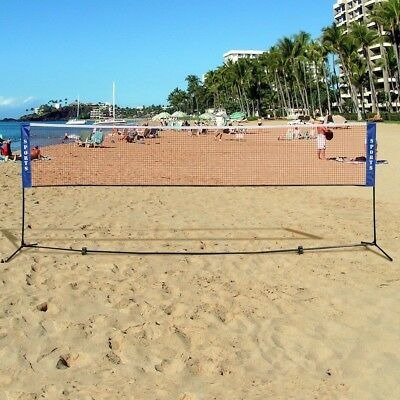 Training Net Portable Height Adjustable Freestanding Badminton Beach Tennis Game