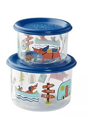 Sugarbooger Good Lunch Snack Containers Small Set-of-Two Happy Camper