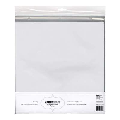 Kaisercraft D Ring Album Refills - D-Ring Album Page Protectors 12X12 10 pack...