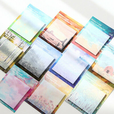 30 Sheets Creative Oil Painting Paper Memo Pad Planner Paper Sticky Notes
