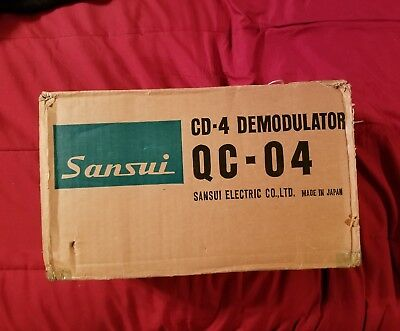 Sansui  QC-04 CD-4 Demodulator  COMPLETE  RARE 4-CHANNEL Decoder Quadraphonic