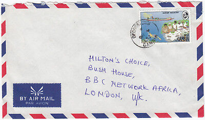 T2038 Gambia commercial air cover to UK, 1992; partial upside down CDS