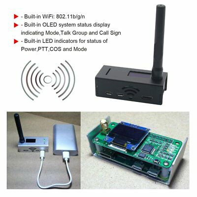 OLED Display Aluminum MMDVM hotspot Support P25 DMR YSF + raspberry pi-UP